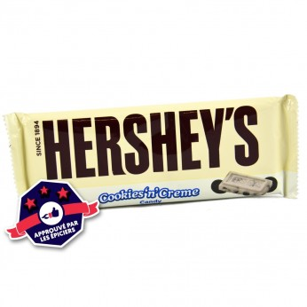 Plaque de chocolat Hersheys cookies & cream
