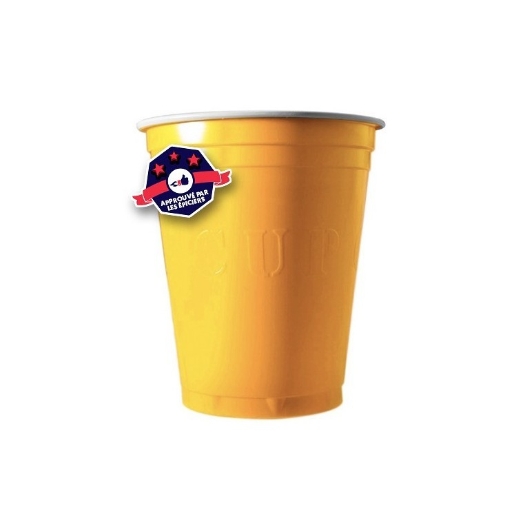 20 x Yellow Cups - 18 Oz