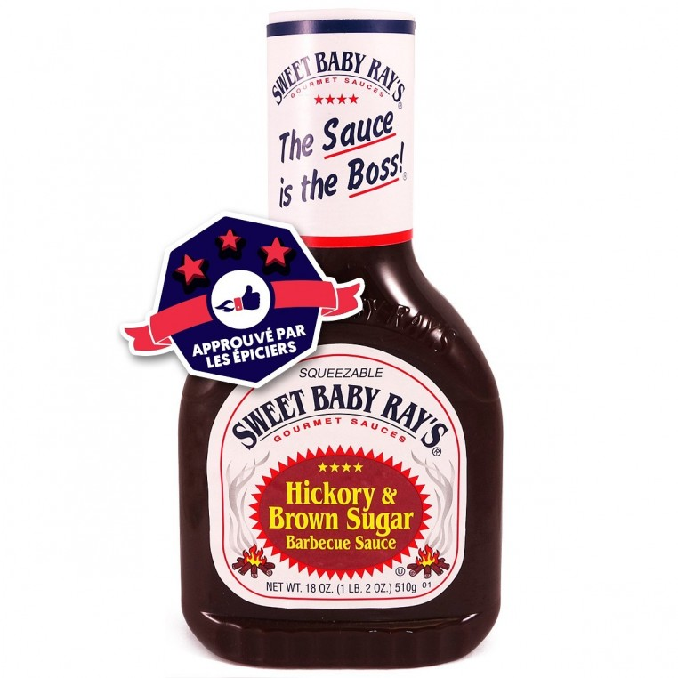 Sauce BBQ - Sweet Baby Ray's - Hickory  & Brown Sugar