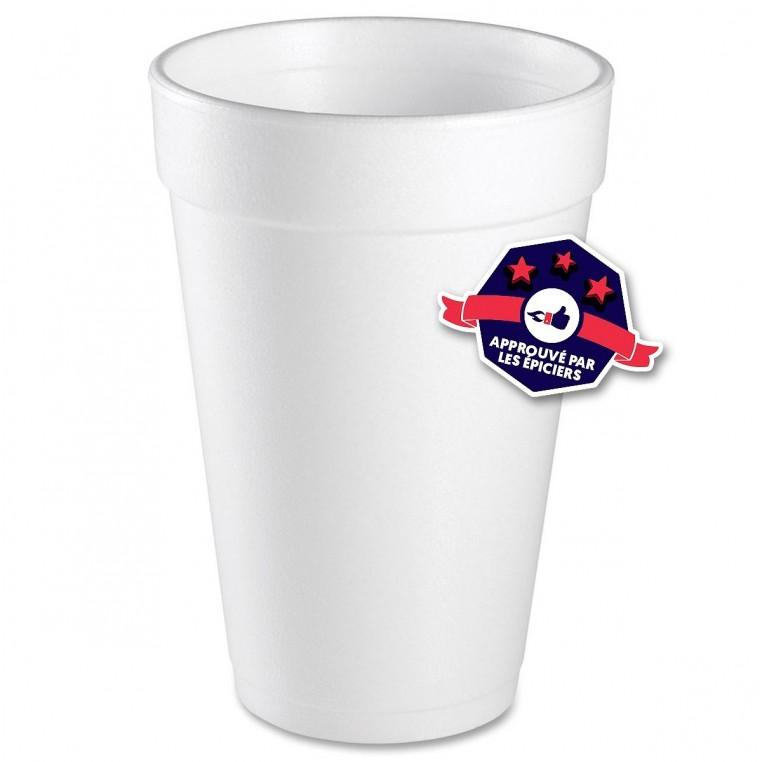 Styrofoam Cups - 25 Gobelets - 473ml
