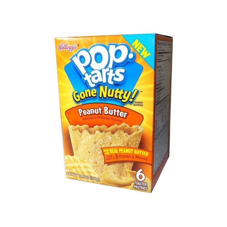 Kelloggs Gone Nutty Peanut ButterPop Tarts - 300g