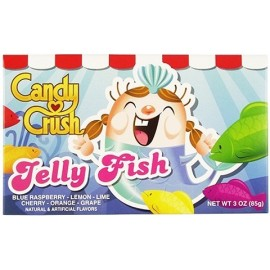 Candy Crush Soft Jelly Fish TheatreBox 3 OZ (85g) [12 Pack]