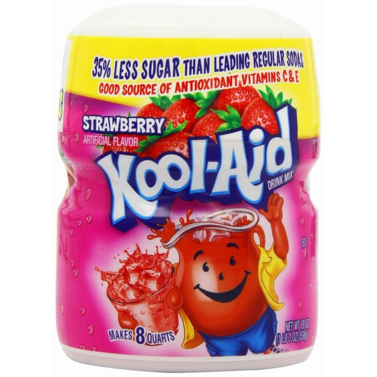 Mix en poudre pour Kool Aid à la Fraise