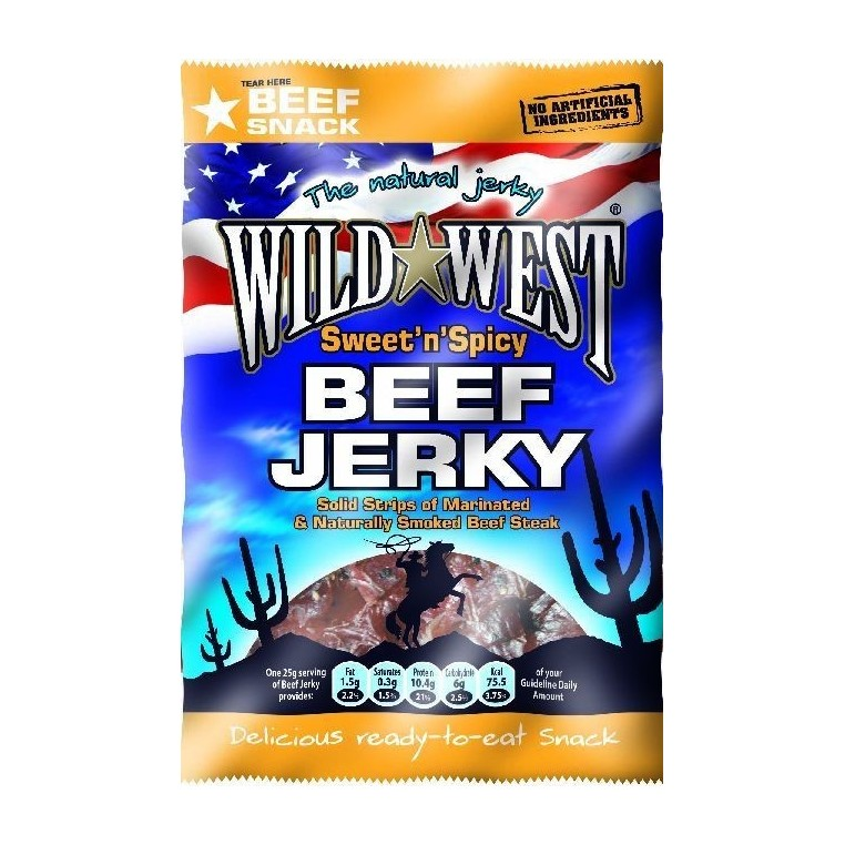 Wild-West Beef Jerky - Sweet n Spicy NEW