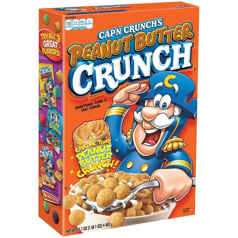 Céréales Cap'n Crunch Peanut Butter