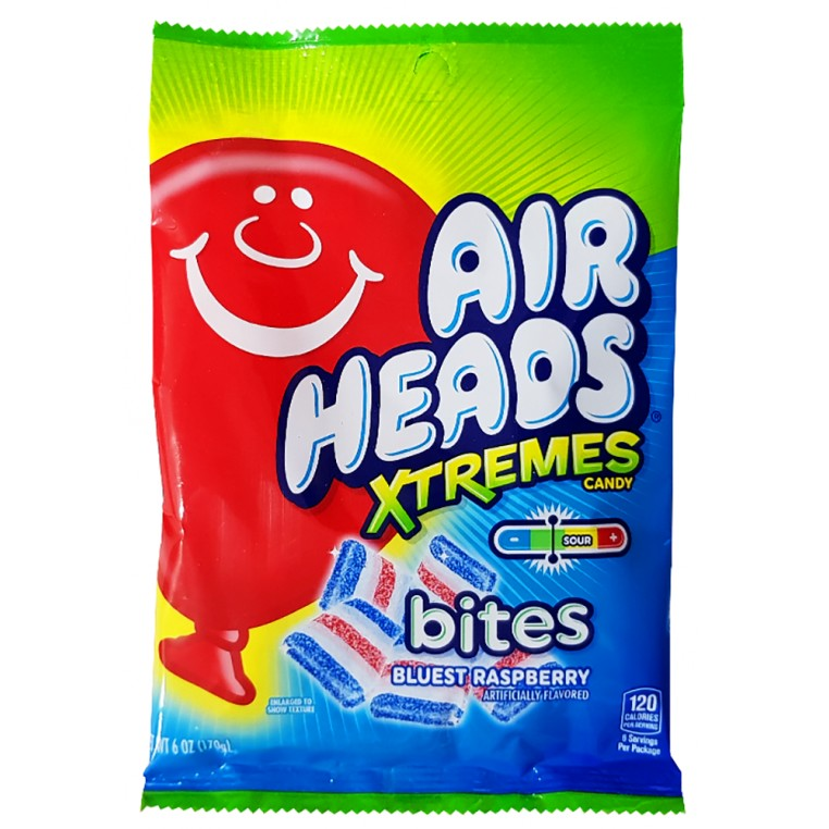 Bonbons Airheads Xtremes Bites - Blue Raspberry