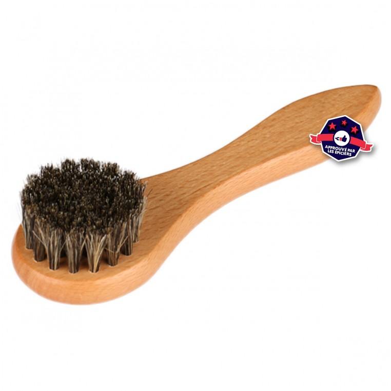 Brosse de nettoyage pour casquettes en bois