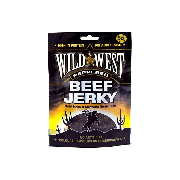 Beef Jerky Wild West - Peppered - 50gr