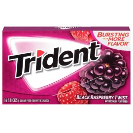 Chewing-Gum Trident - Black Raspberry Twist