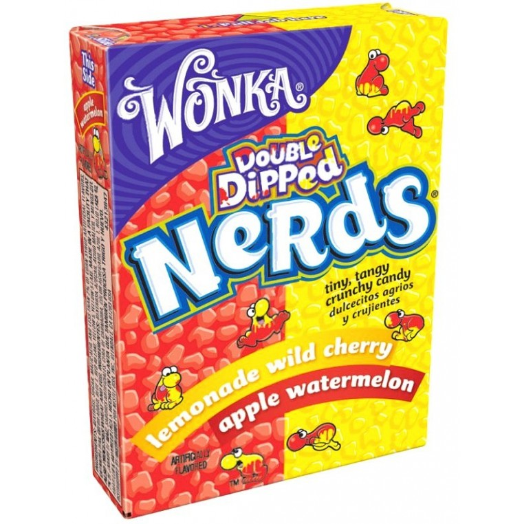 Nerds Double Dipped - Lemonade wild cherry & Apple watermelon - Willy Wonka