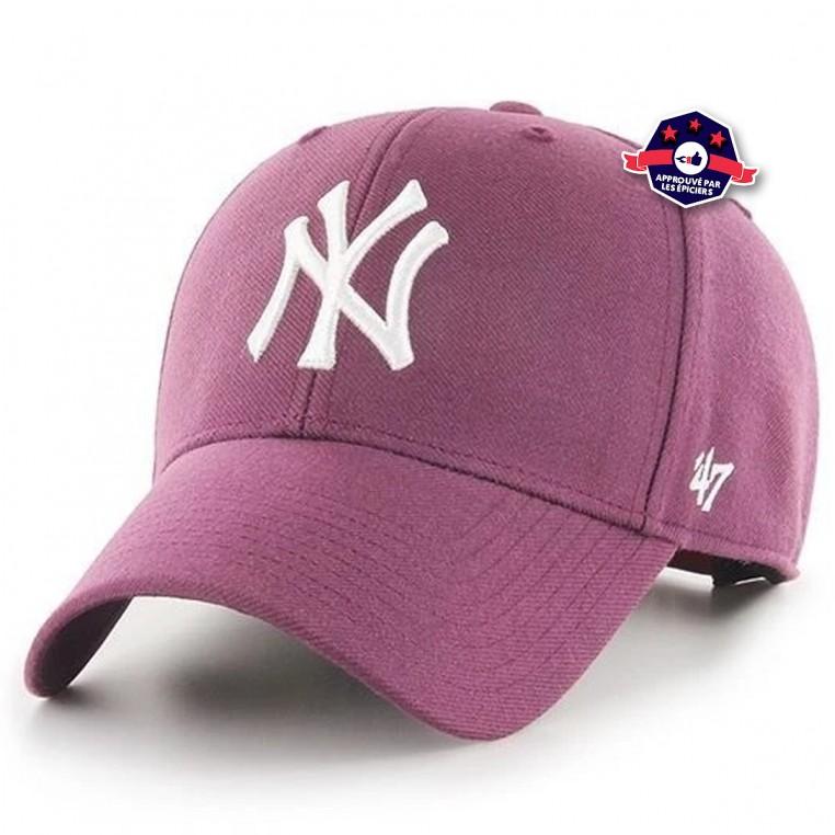 Casquette New York Yankees Mvp Snapback Plum