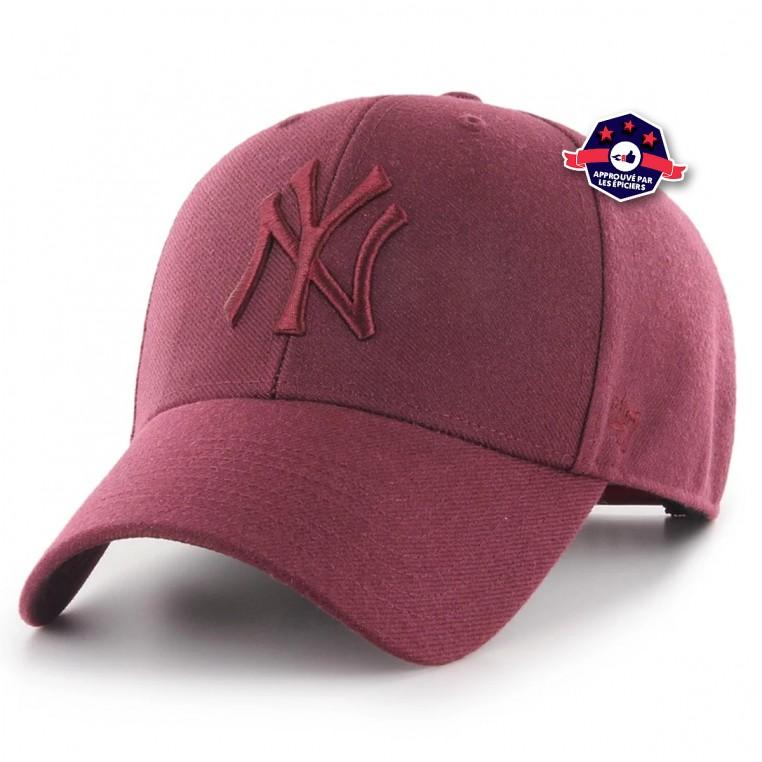 Casquette New York Yankees Mvp Snapback Dark Maroon