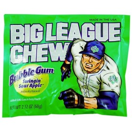 Chewing gum Big league Chew à la pomme acidulée