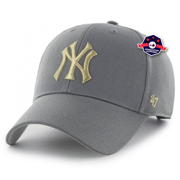 Casquette New York Yankees Metallic Snap Charcoal