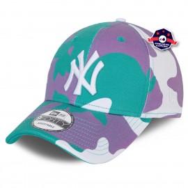9Forty - New York Yankees - Camo Pack turquoise et fushia