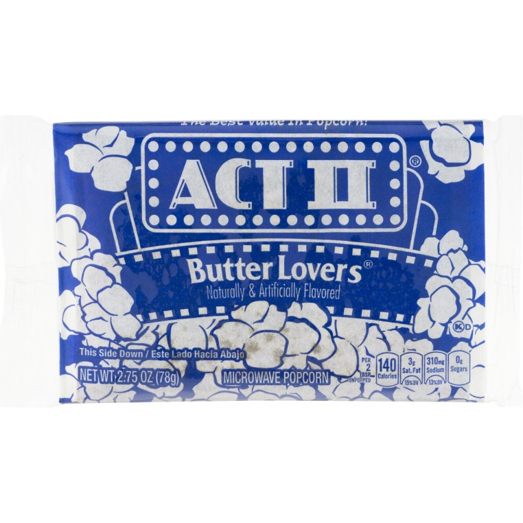 Microwave Popcorn - Butter Lovers - Act II