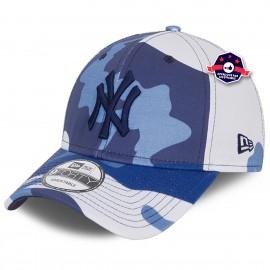 9Forty - New York Yankees - Camo Pack bleu et gris