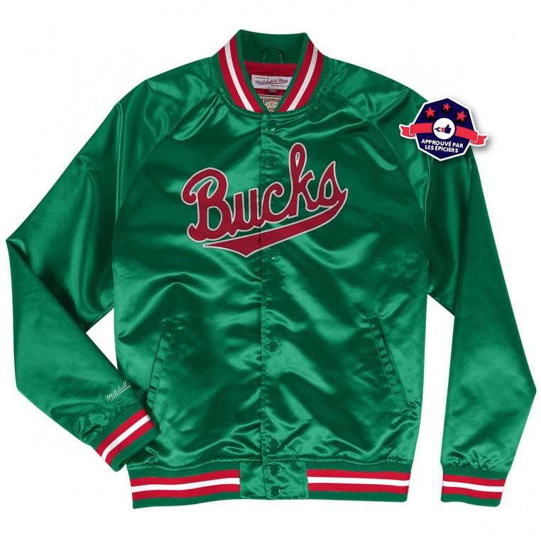 Light Weight Satin Jacket Milwaukee Bucks