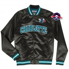 Veste en Satin - Charlotte Hornets - Mitchell and Ness