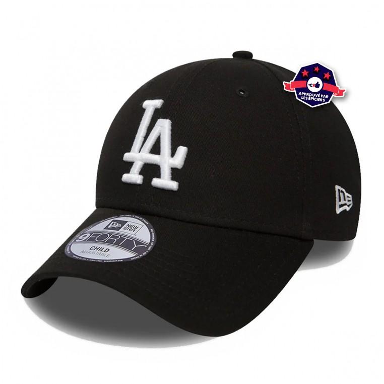 casquette officielle New Era 9FORTY des LA Dodgers noire pour enfant