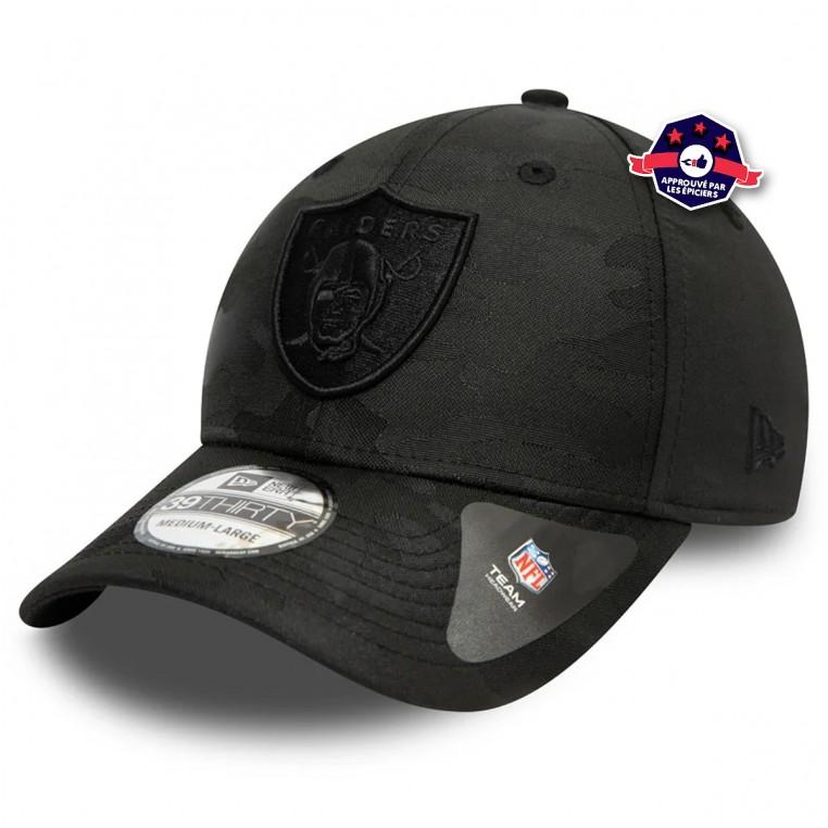 Casquette New Era - Las Vegas Raiders - Black Camo - 39Thirty