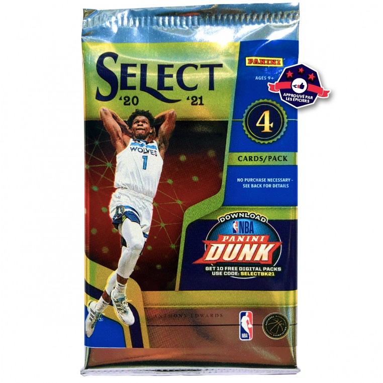 Pack Trading Cards NBA - 2020-21 Select - Panini