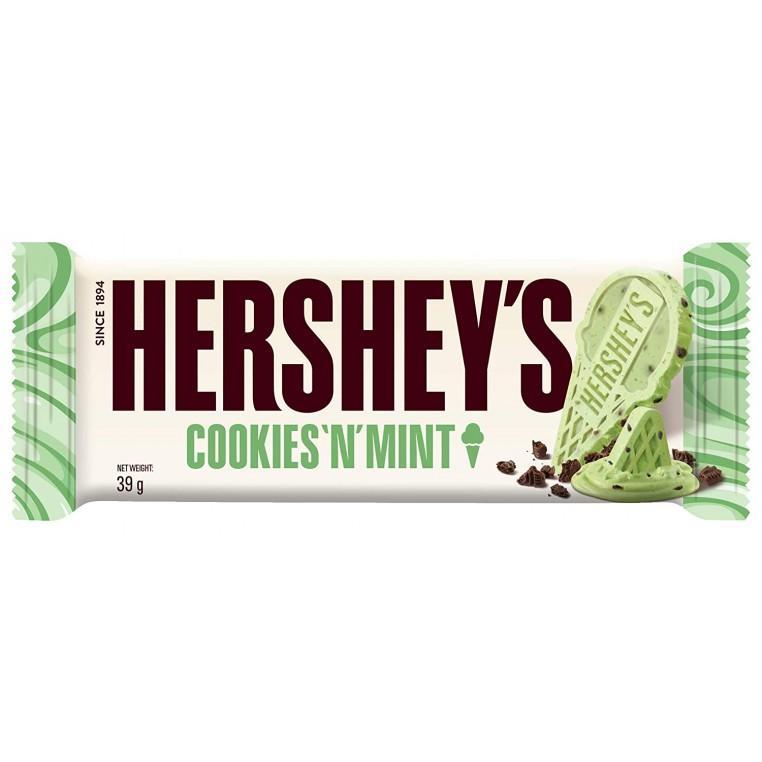 Hersheys Cookies'N'Mint - Chocolat Blanc & Menthe