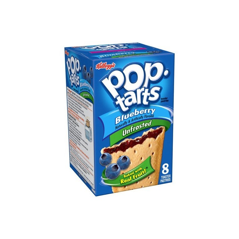 Pop Tarts Unfrosted Blueberry