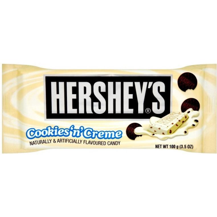Plaque de chocolat Hersheys cookies & cream maxi format