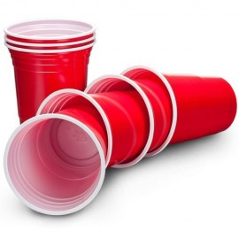 Hefty Everyday Easy Grip Pack of 30 Red Cups 18 OZ (532ml)