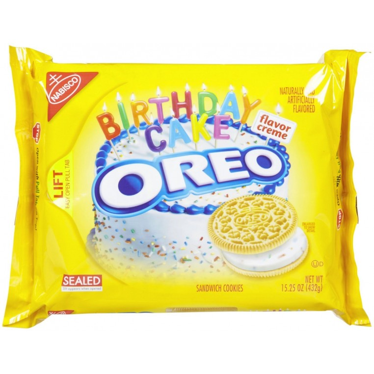 Golden Oreo Birthday Cake