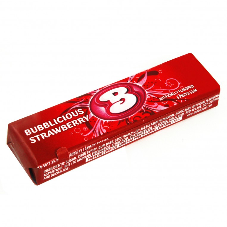 Chewing gums Bubblicious à la Fraise