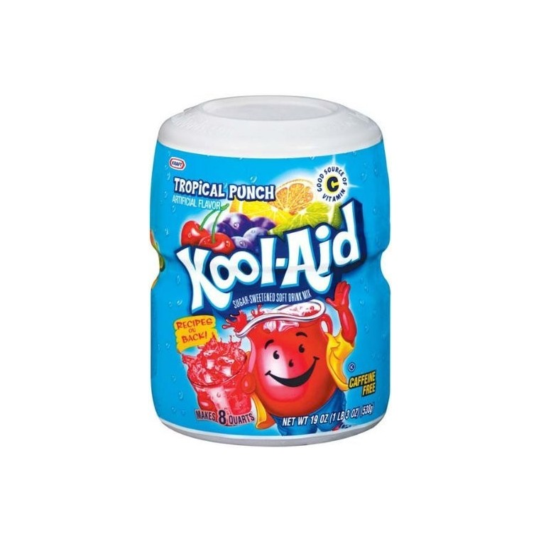Mix en poudre de Kool Aid Tropical Punch