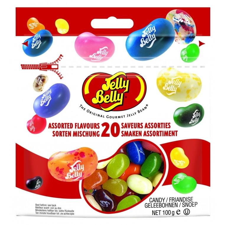 Sachet de Jelly Belly 20 parfums 100g
