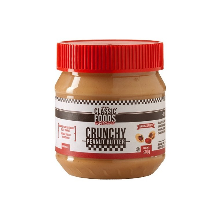 Beurre de cacahuète crunchy classic foods